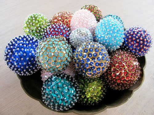 38 handmade christmas ornaments diy sequins ornaments