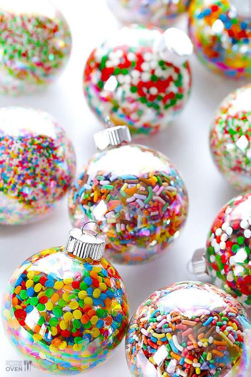 38 Handmade Christmas Ornaments - DIY Sprinkles Ornament