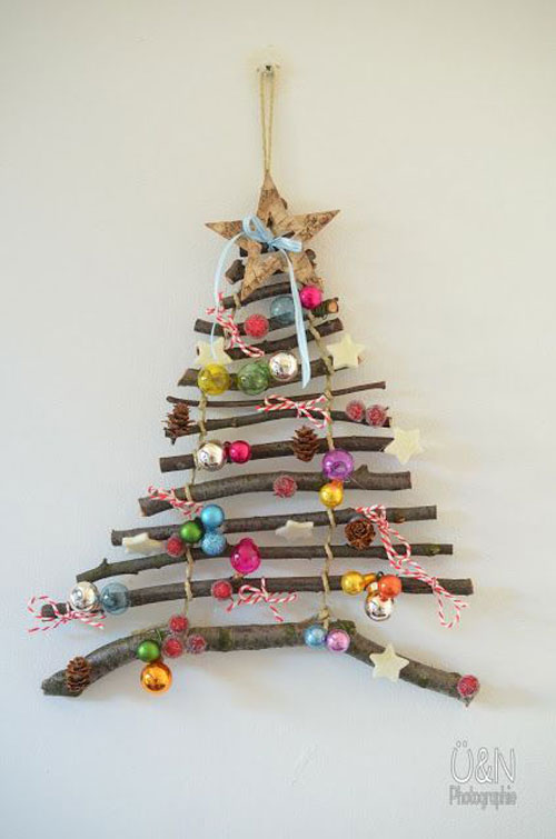 36 Easy Christmas Crafts - DIY Twig Christmas Tree