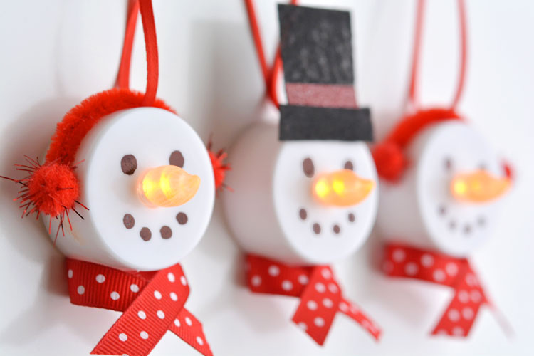 Tea light snowman ornaments solutioingenieria Choice Image