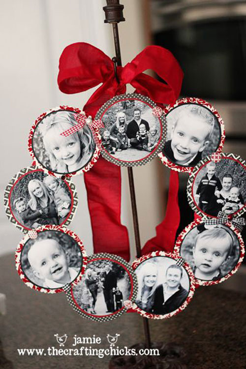 Superior Christmas Crafts For Family Part - 8: 36 Easy Christmas Crafts - Family Photo Wreath