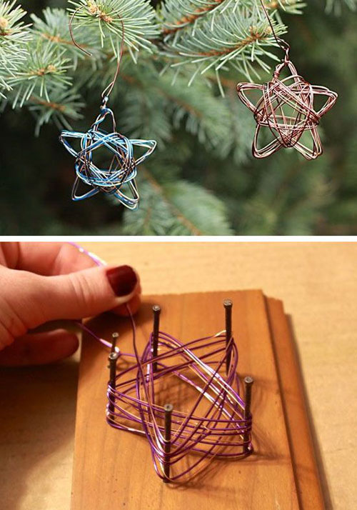 38 Handmade Christmas Ornaments - Handmade Star Wire Ornament