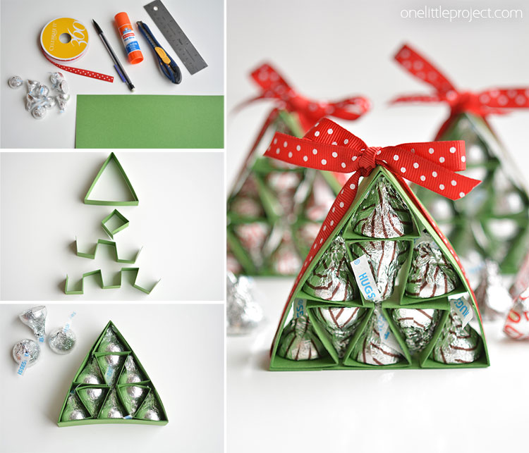 How to Make Hershey\'s Kisses Christmas Trees