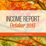 Traffic and Income Report: October 2015