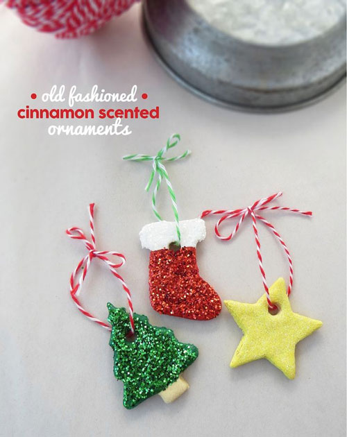 38 Handmade Christmas Ornaments - Old Fashion Cinnamon Scented Ornaments