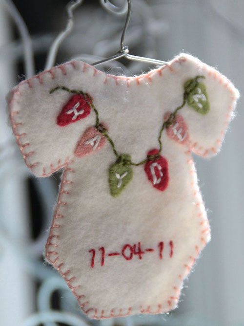 38 Handmade Christmas Ornaments - Onesie Ornament