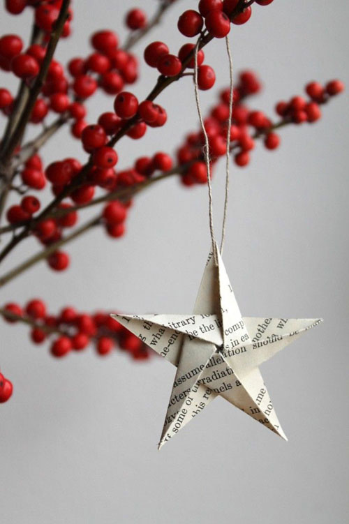 38 handmade christmas ornaments paper star ornament - Paper Christmas Tree Decorations