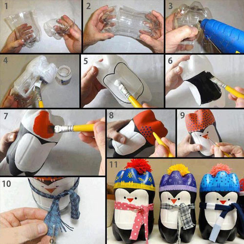 36 Easy Christmas Crafts - Penguin Christmas Ornament