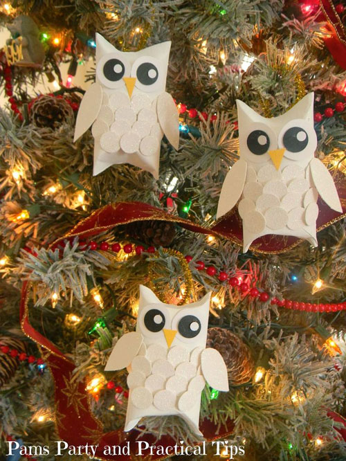 38 Handmade Christmas Ornaments - Snow Owl Ornaments