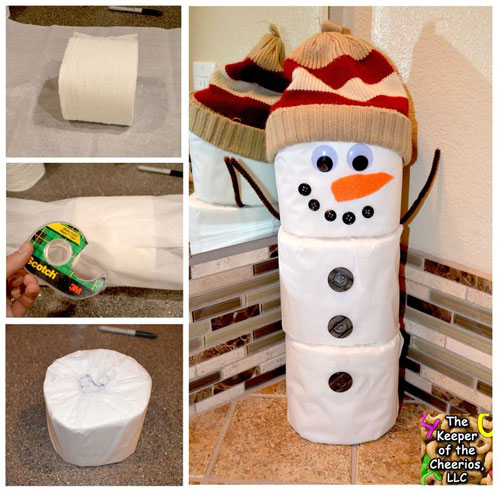 paper roll snowman craft 36 easy crafts 5131