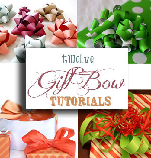 24 Clever Christmas Wrapping Hacks - Twelve Gift Bow Tutorials