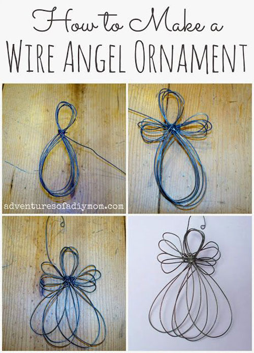 38 Handmade Christmas Ornaments - Wire Angel Ornament