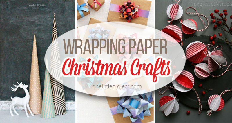 19 wrapping paper christmas crafts for Christmas crafts for little ones