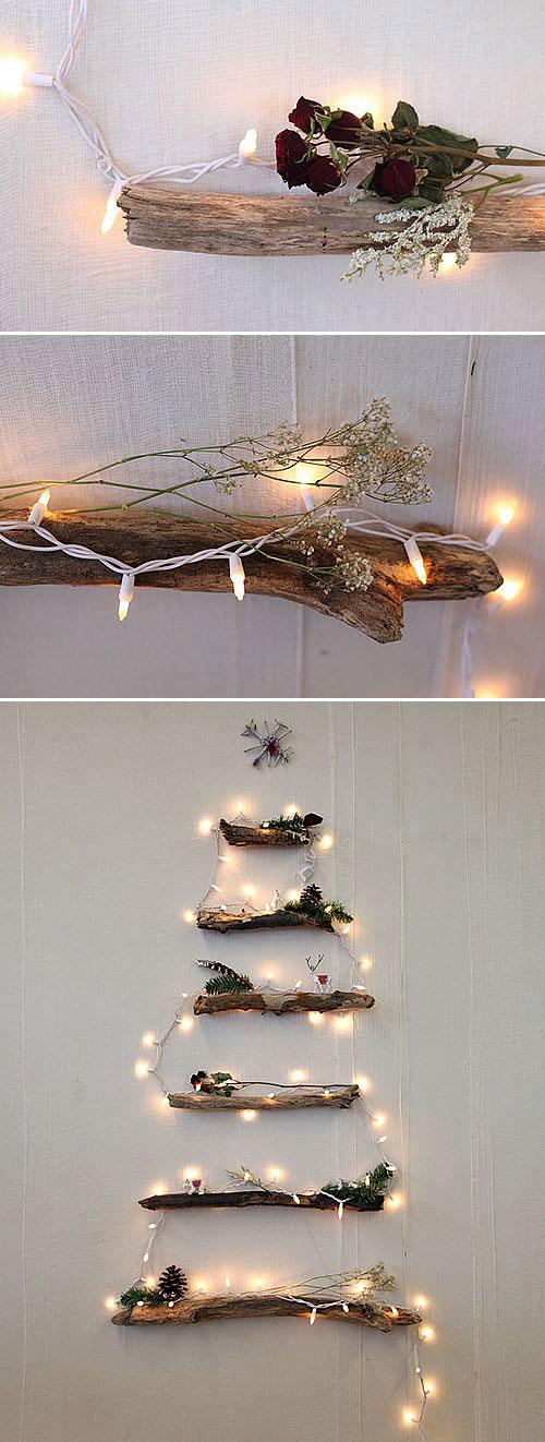 18 Clever Christmas Light Crafts - DIY Alternative Christmas Tree
