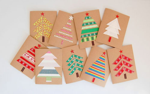 19 Christmas Wrapping Paper Crafts - DIY Christmas Cards