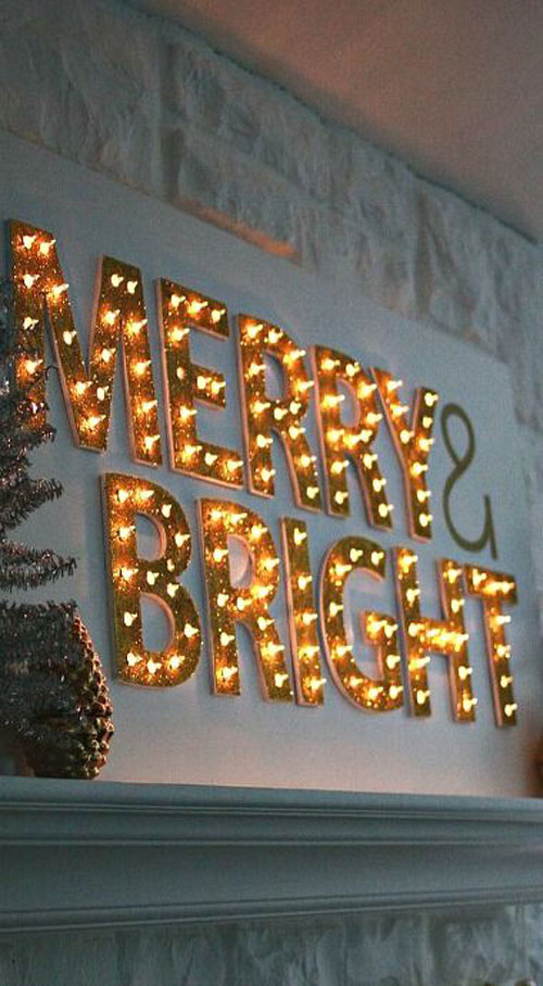 18 Clever Christmas Light Crafts - DIY Christmas Light Up Marquee
