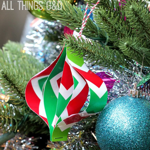 19 Christmas Wrapping Paper Crafts - DIY Wrapping Paper Ornaments