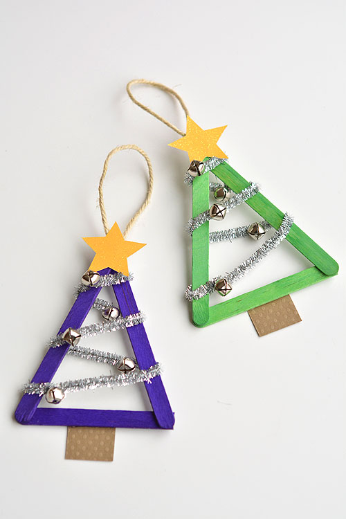 Lollipop Stick Christmas Decorations.Popsicle Stick Christmas Trees