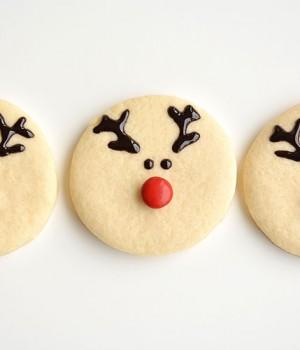 Easy Reindeer Sugar Cookies