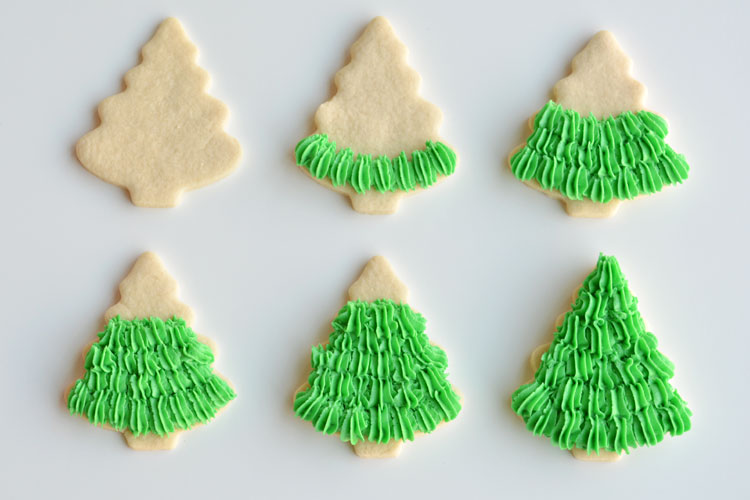 these christmas tree sugar cookies have such a gorgeous fir tree texture this recipe makes - How To Decorate Christmas Cookies