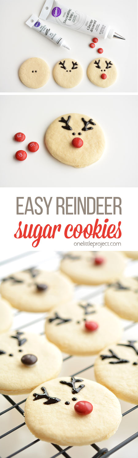 Easy reindeer sugar cookies these reindeer sugar cookies are really easy to make and they look adorable the cookie forumfinder Gallery