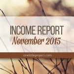 Traffic and Income Report: November 2015