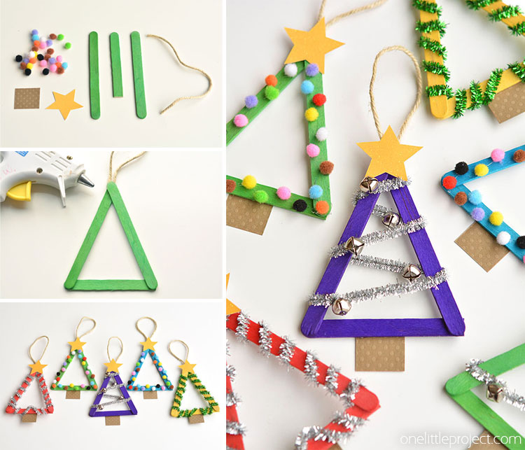 popsicle stick christmas trees facebook2 - Lollipop Christmas Decorations