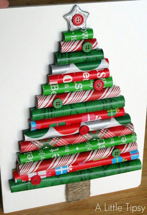 19 Christmas Wrapping Paper Crafts - Wrapping Paper Christmas Tree