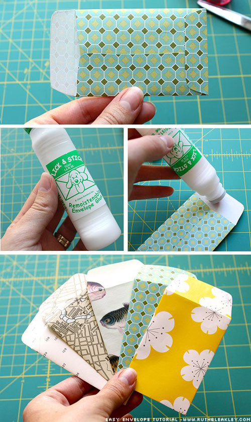 19 Christmas Wrapping Paper Crafts - Wrapping Paper Envelopes