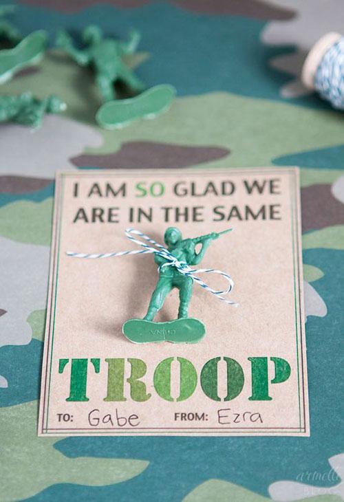 40+ Cute Valentine Ideas for Kids - Army Valentine's Printable