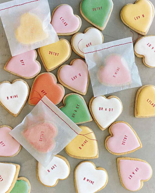 44 Sweet Valentine's Day Treats - Conversation Heart Cookies