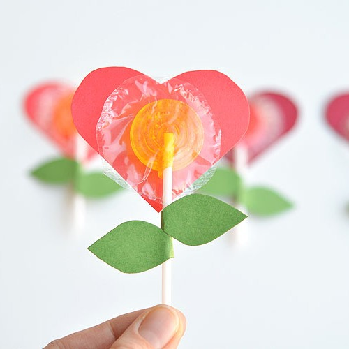 Lolly Pop Heart Flowers
