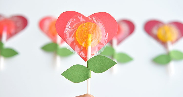 Lolly Pop Heart Flowers