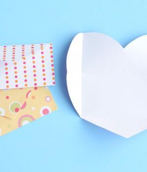 Folded Heart Envelopes