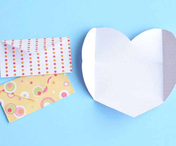 Folded Heart Envelopes