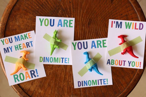 40+ Cute Valentine Ideas for Kids - Dinosaur Valentine's