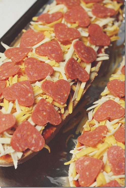 30+ Healthy Valentine's Day Food Ideas - Heart-Shaped Pepperoni Pizza Bread