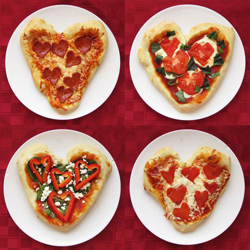 30+ Healthy Valentine's Day Food Ideas - Heart-Shaped Pizza