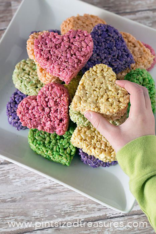 44 Sweet Valentineu0027s Day Treats   Heart Shaped Rice Krispie Treat Pops