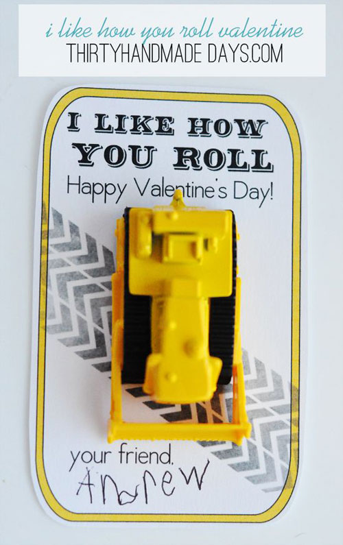 40+ Cute Valentine Ideas for Kids - I Like How You Roll Printable