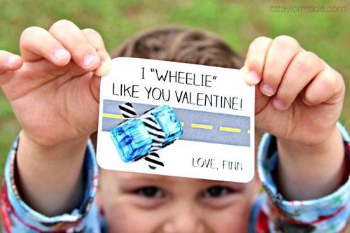 40+ Cute Valentine Ideas for Kids - I Wheelie Like You Valentine's Printable
