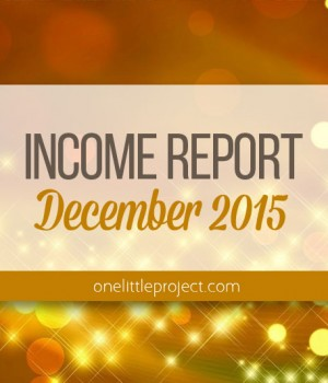 Traffic and Income Report: December 2015