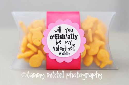 40+ Cute Valentine Ideas for Kids - O-Fish-Ally Be Mine Valentine