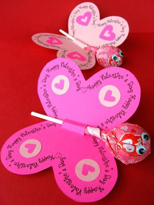 40+ Cute Valentine Ideas for Kids - Printable Butterfly Valentine