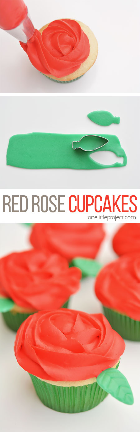 These red rose cupcakes are SO PRETTY and they're really easy to make! Wouldn't they be beautiful for Valentine's Day or Mother's Day!?