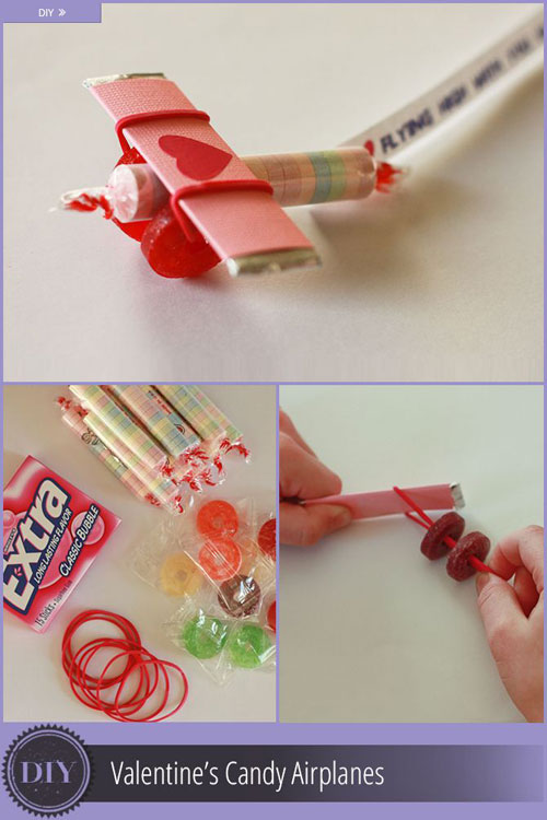 Toll 40+ Cute Valentine Ideas For Kids   Valentineu0027s Candy Airplanes
