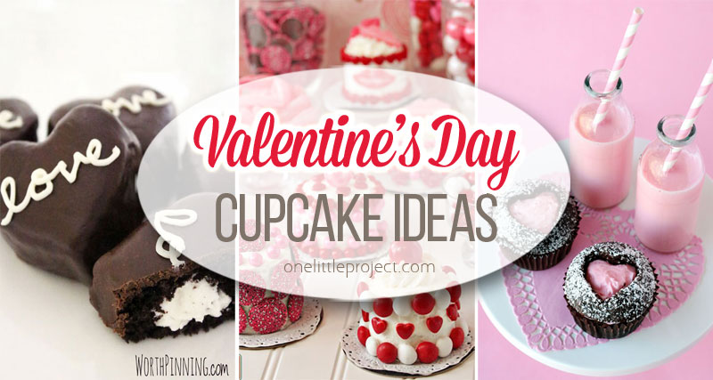 35+ Valentine\'s Day Cupcake Ideas - One Little Project