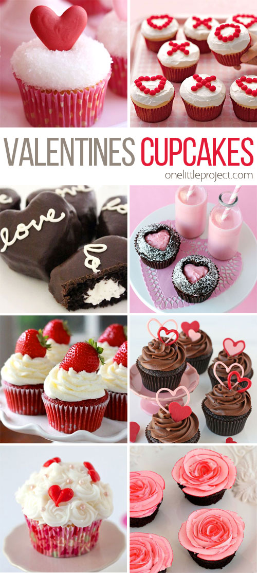 Valentine's Cupcakes at One Project at a Time