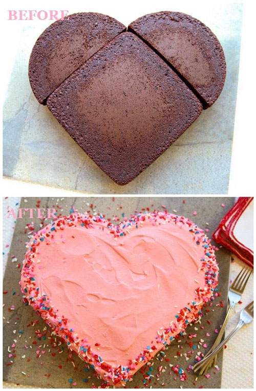 44 Sweet Valentine's Day Treats - Valentine's Day Heart Shaped Cake