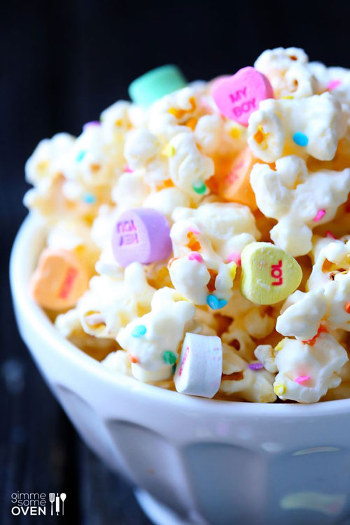 44 Sweet Valentine's Day Treats - Valentine's Popcorn